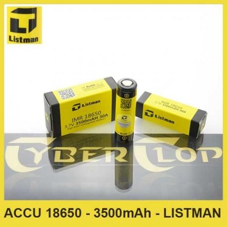 Accu IMR 18650 - 3500mAh - Listman