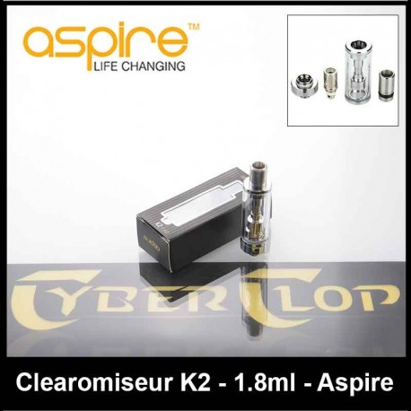 Clearomiseur K2 BVC Aspire 1.8ml