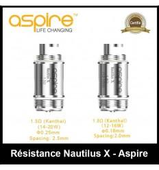 RÉSISTANCE NAUTILUS X ASPIRE