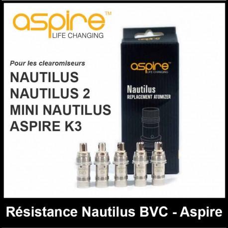 RÉSISTANCE NAUTILUS BVC - ASPIRE