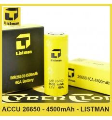 Accu IMR 26650 - 4500mAh - Listman