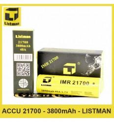 Accu IMR 21700 - 3800mAh - Listman