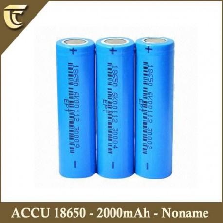 ACCU Li-ion 18650 - 2000MAH
