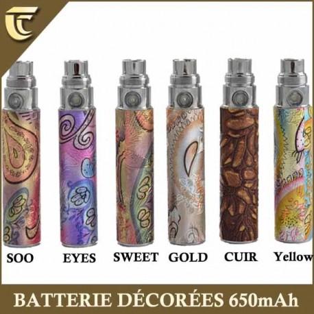 Batterie ego décorées