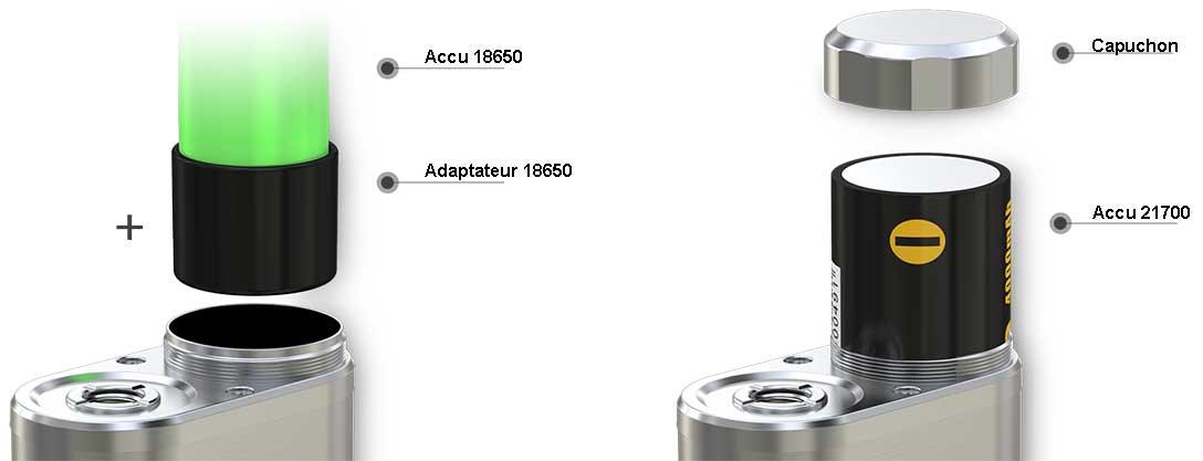 accus 18650 et 21700
